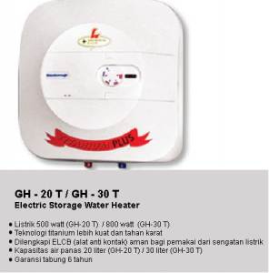 GH 20T - Water Heater Gainsborough 20 Liter